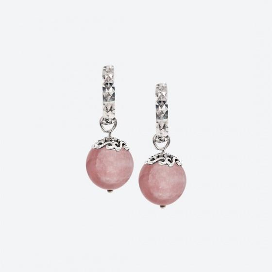 Bộ trang sức đá thạch anh hồng thiên nhiên Ngọc Quý Gemstones