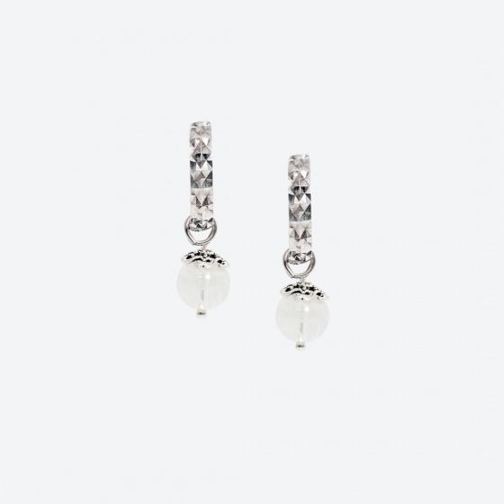 Bộ trang sức đá thạch anh trắng thiên nhiên Ngọc Quý Gemstones