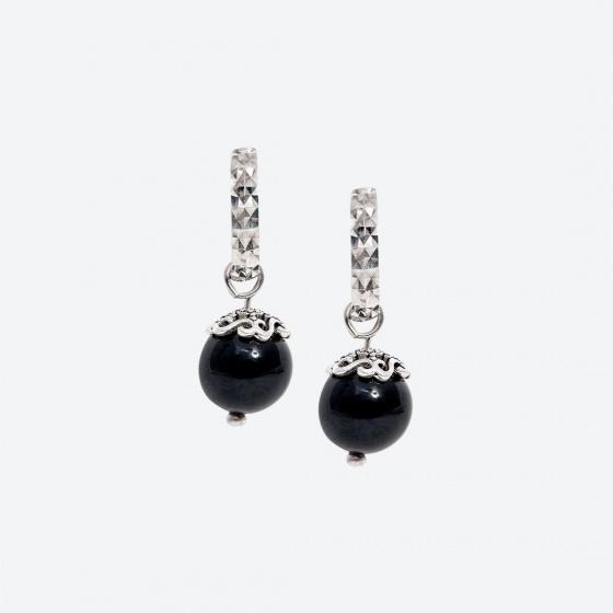 Bộ trang sức đá Obsidian thiên nhiên Ngọc Quý Gemstones