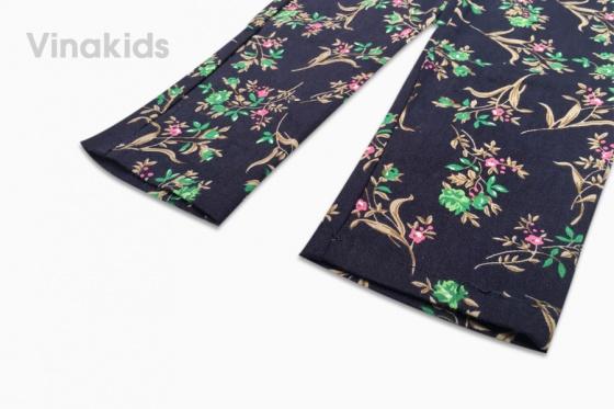 Quần kaki bé gái Vinakids hình hoa co giãn (5-9 tuổi)