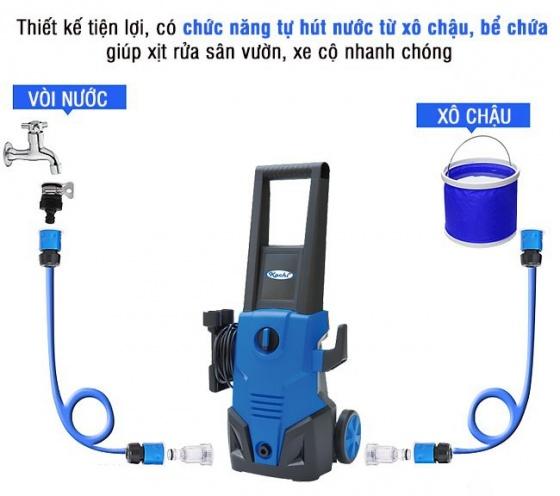 Máy xịt rửa xe cao áp Kachi ABW-VAT-70C