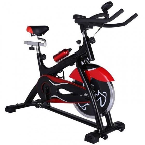 Xe đạp tập thể dục Spin Bike trắng đỏ