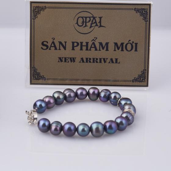 Opal vòng tay ngọc trai huyền bí T05