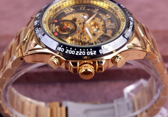 Đồng hồ cơ nam lộ máy chạm khắc 3D