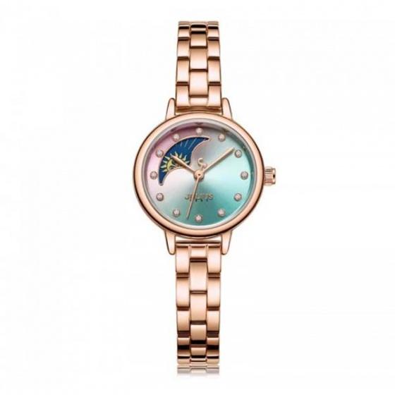 Đồng hồ nữ JA-1157C Julius sun and moon dây thép - đồng xanh