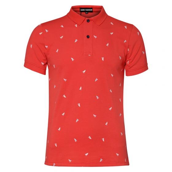 Bộ 4 áo thun in cánh buồm AT026 (trắng - xanh đen - đỏ - xanh ngọc)