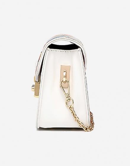 Túi hộp mini - Hoa xanh - P13B155