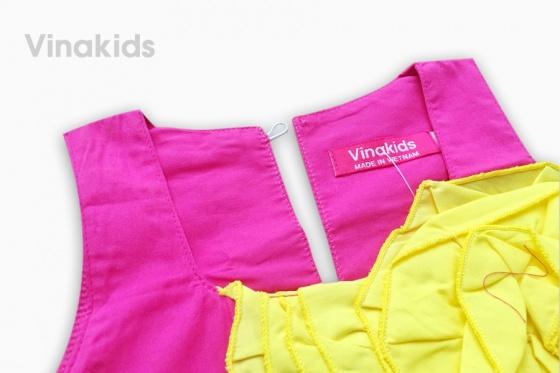Váy bé gái Vinakids kết hoa trước ngực 1-7 tuổi