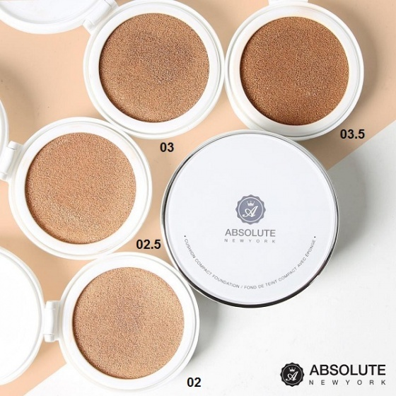 Phấn nước cushion Absolute New York HD Flawless Cushion Compact Foundation ACF 02 Light