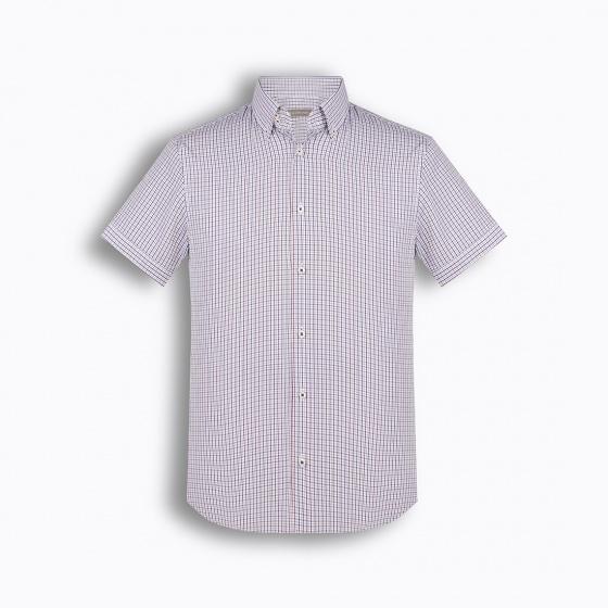 Áo sơ mi nam tay ngắn họa tiết The Shirts Studio Hàn Quốc TD42F2103VI