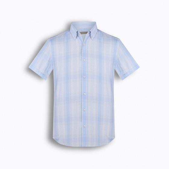 Áo sơ mi nam tay ngắn họa tiết The Shirts Studio Hàn Quốc TD42F2105BL