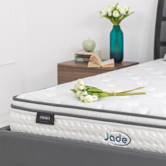 Nệm lò xo túi Jade Havas 200x200x25 cm