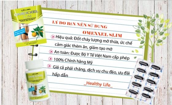 Viên uống giảm cân an toàn Omexxel Slim 30 viên - xuất Xứ Mỹ