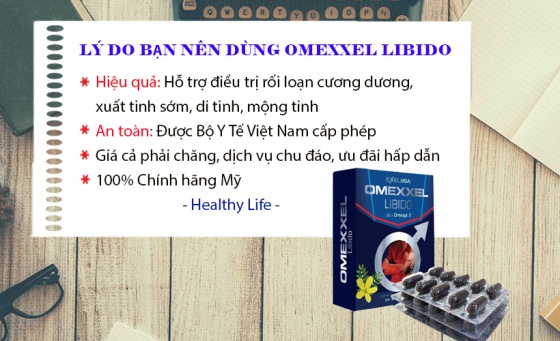 Combo 2 hộp viên uống tăng cường sinh lý và sức khỏe nam giới Omexxel Libido (60 viên) - chính hãng Mỹ
