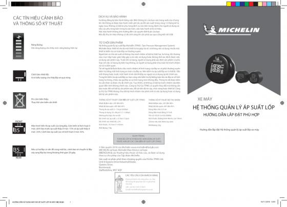 Cảm biến đo áp suất lốp xe máy Michelin FMR(D)-1+2SFMTLE-1