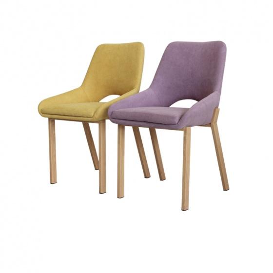 Ghế bọc vải chân giả gỗ Furnist Cresent