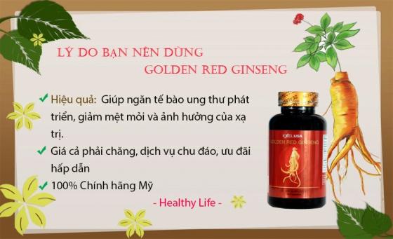 Viên uống hồng sâm Golden Red Ginseng 90 viên - Xuất xứ Mỹ