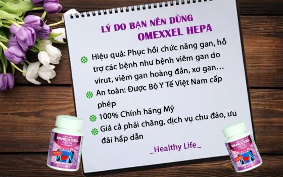 Combo 2 lọ viên uống bổ gan, tăng cường chức năng gan Omexxel Hepa 60 viên - Xuất xứ Mỹ