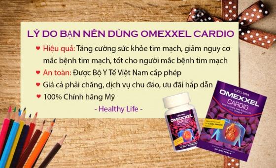Viên uống hỗ trợ tim mạch Omexxel Cardio 30 viên
