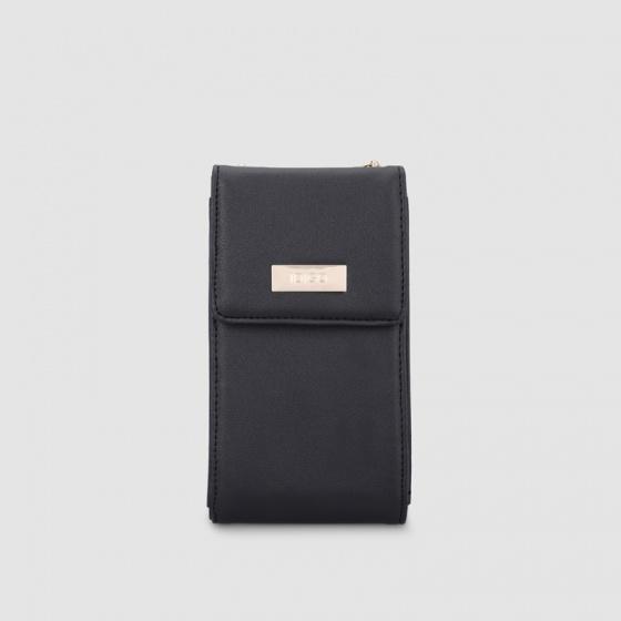 Túi đeo chéo nữ phom đứng nắp gập dây xích Idigo FB2-214-00