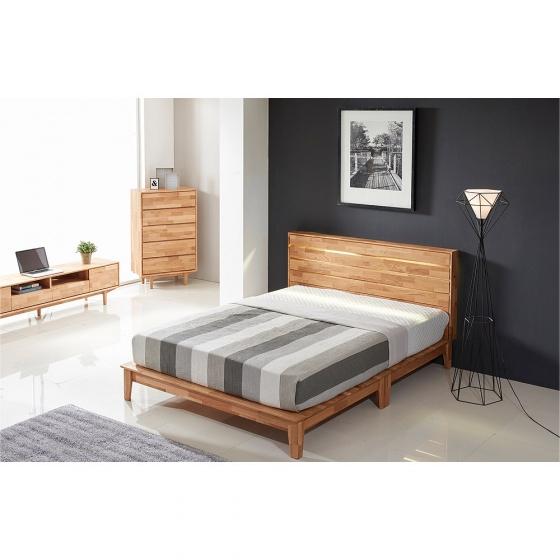 Giường đôi Calla gỗ cao su 1m6 - Cozino
