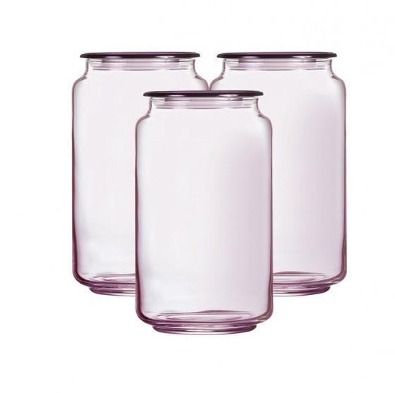 Hũ thủy tinh 1L Rondo Ice Pink Luminarc L0365