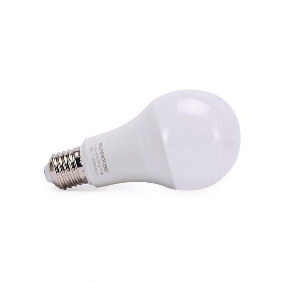 Bộ đèn led thân nhôm Sunhouse SHE-LEDA60AL-A12W đui xoáy, trắng
