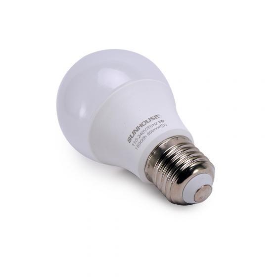 Bộ đèn led thân nhôm Sunhouse SHE-LEDA60AL-A6W.W đui xoáy, vàng
