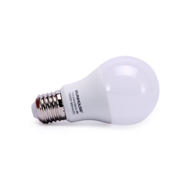 Bộ đèn led thân nhôm Sunhouse SHE-LEDA60AL-A8W.W đui xoáy, vàng