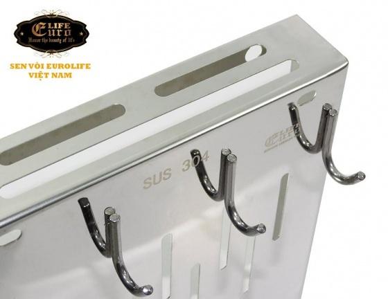 Kệ cài dao - muỗng Inox SUS 304 Eurolife EL-K6 (trắng - bạc)
