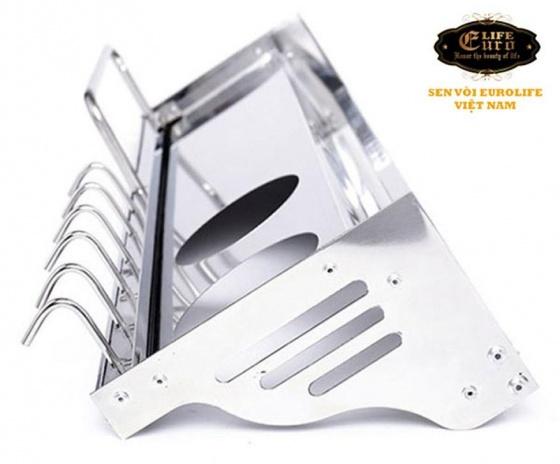 Kệ bếp đa năng Inox Eurolife EL-K1 (trắng bạc)