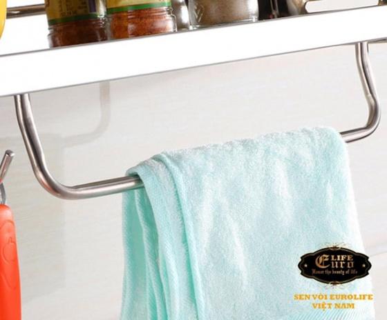 Kệ bếp đa năng Inox SUS 304 Eurolife EL-K4 (trắng bạc)