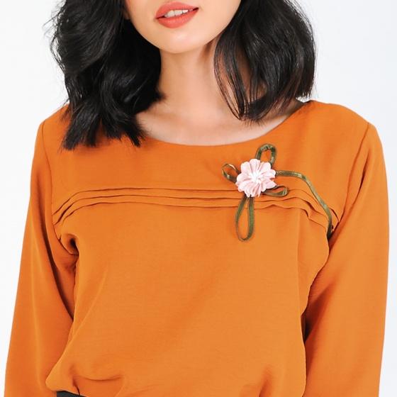 Set công sở thời trang Eden màu cam - SET13