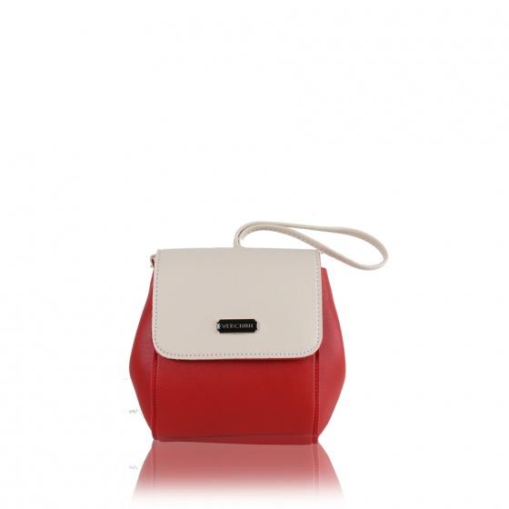 Túi thời trang verchini màu đỏ + trắng 13000587