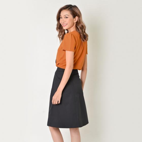 Set công sở thời trang Eden màu cam - SET17