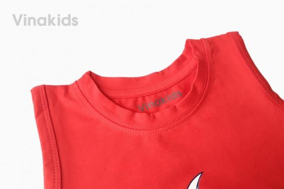 Đồ bộ bé trai sát nách Vinakids Tom & Jerry màu đỏ (1-7 tuổi)