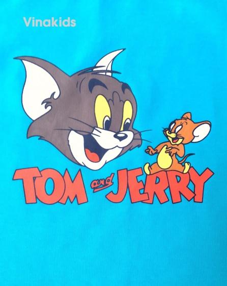 Đồ bộ bé trai sát nách Vinakids Tom & Jerry màu xanh (1-7 tuổi)