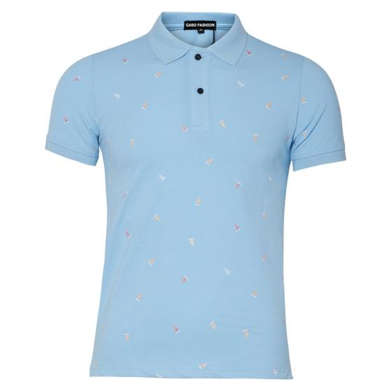 Bộ 2 áo thun in cánh buồm AT019 -  trắng, xanh ngọc