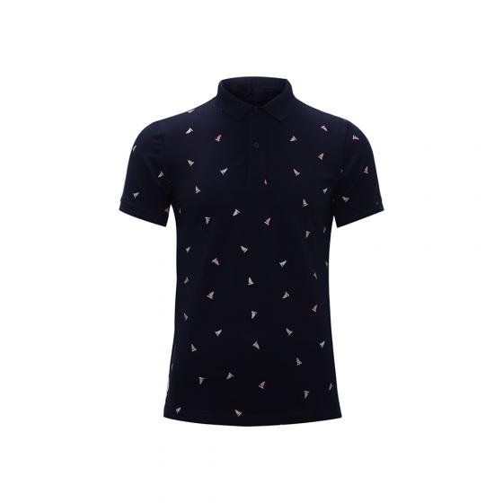 Bộ 2 áo thun in cánh buồm AT033-  xanh ngọc, xanh đen