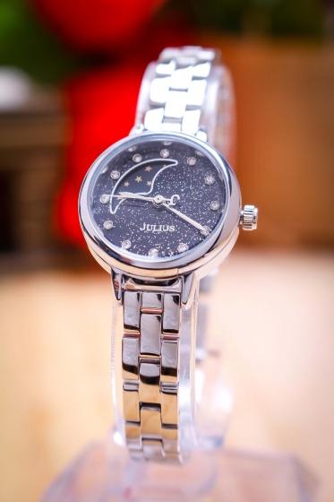 Đồng hồ nữ JA-1157A Julius Sun and Moon dây thép (bạc)