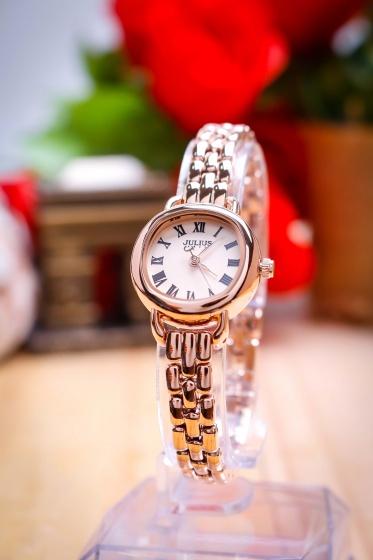 Đồng hồ nữ JA-1150C Julius Hàn Quốc dây thép (đồng)