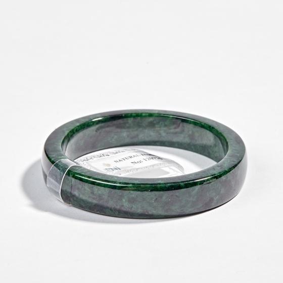 Vòng tay phong thủy đá cẩm thạch sơn thuỷ liền khối Ngọc Quý Gemstones
