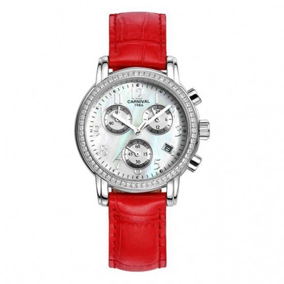 Đồng hồ nữ dây da Carnival L47002.201.035