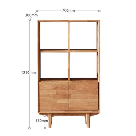 Tủ kệ sách lưu trữ Calla gỗ cao su - Cozino