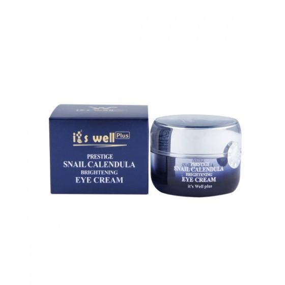 Kem dưỡng mờ vết thâm và nếp nhăn vùng mắt- It's Well Plus- Prestige Snail Calendula Brightening Eye Cream 30g