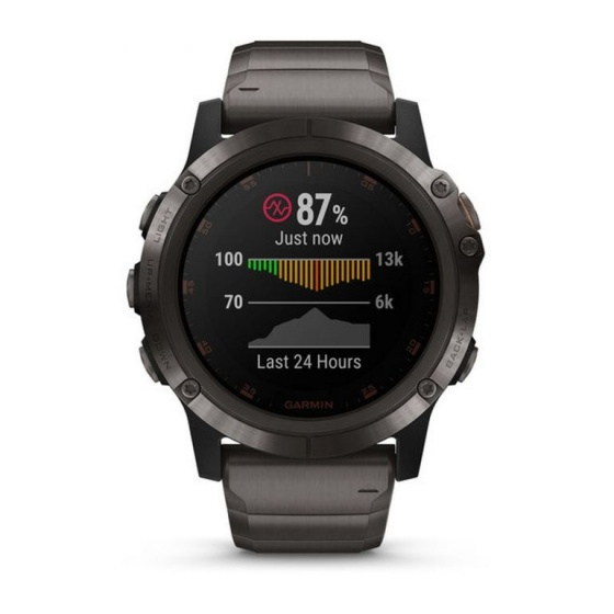 Đồng hồ thông minh Garmin Fenix 5x Plus, Sapph, Carbon Gray DLC Ti w/DLC Ti Band, GPS, SEA