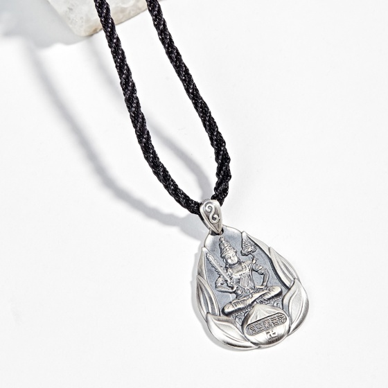 Mặt dây chuyền phong thủy bạc phật bản mệnh tuổi sửu dần hư không tạng Ngọc Quý Gemstones