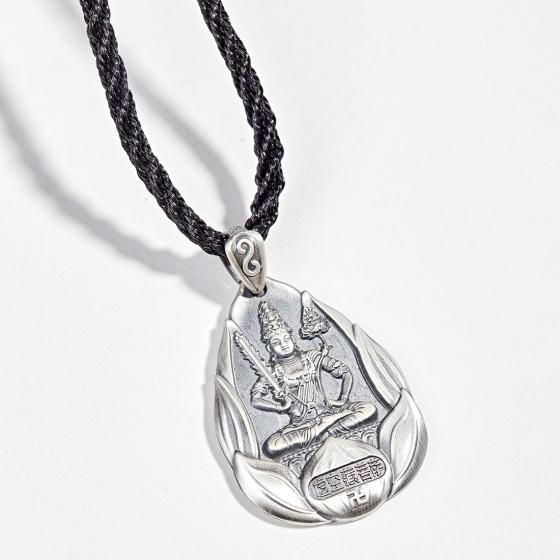 Hình ảnh Mặt dây chuyền phong thủy bạc phật bản mệnh tuổi sửu dần hư không tạng Ngọc Quý Gemstones