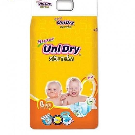 (Tặng 1 gối ôm trái chuối) khi mua 2 gói tã dán Unidry size L38