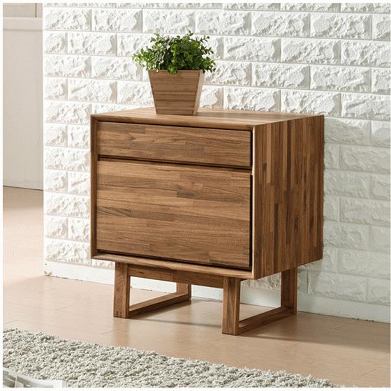 Tủ ngăn kéo Begonia 2 hộc gỗ cao su - Cozino